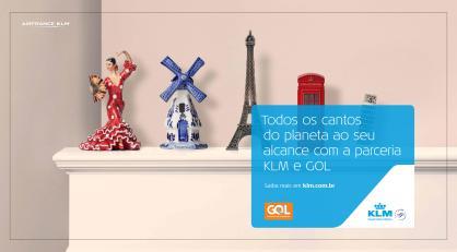 Campanha da KLM para promover codeshare com a Gol para sete capitais brasileiras Divulgação
