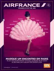 Campanha da Air France para promover codeshare com a Gol para sete capitais brasileiras