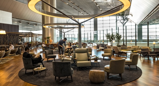 Lounge no Terminal 3 no Aeroporto Internacional de Guarulhos