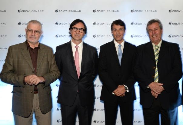 Benjamín Liberoff Gerardo Cood Juan Eduardo García y Enrique Antía