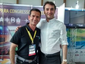 Jairo Oliveira, do Mussulo Resort, com Ferdinando Lucena, gestor do Cent...