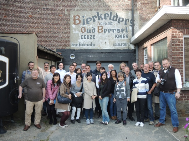 O grupo de 24 profissionais do turismo visitou algumas das principais cervejarias de Flandres ao longo de quatro dias, incluindo a tradicional Oud Beersel, no município de Beersel, que fica a 10 km de Bruxelas (Foto: Divulgação)
