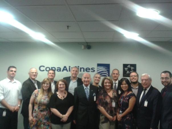 Representantes das companhias aéreas reuniram-se na última semana na sede da Copa Airlines em São Paulo