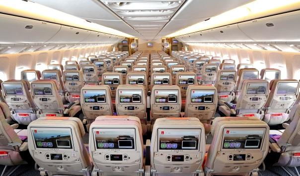 Sistema de entretenimento de bordo ice da Emirates: um dos serviços premiados em 2015